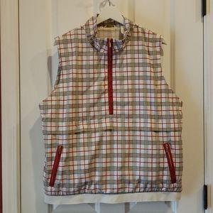 LIZGOLF Plaid Sleeveless Jacket Golf Vest sz XL